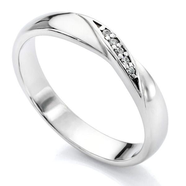 Diamond Twist Wedding Ring Twisted Ribbon Diamond Set Wedding RIng