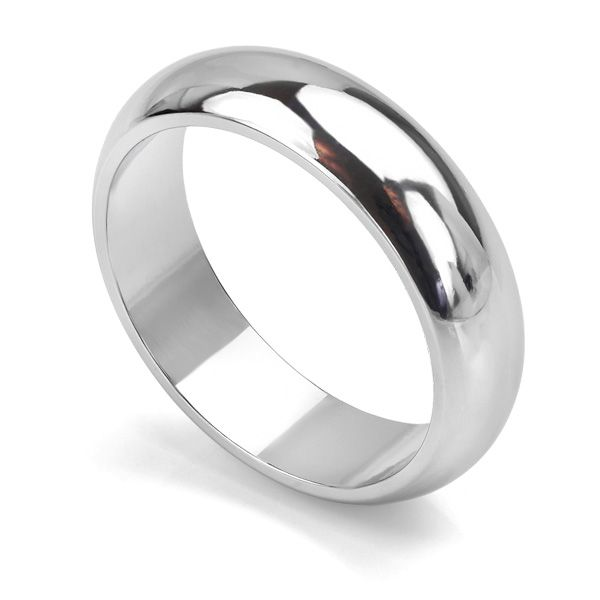 D Shaped Wedding Ring - Heavy Weight Main Image