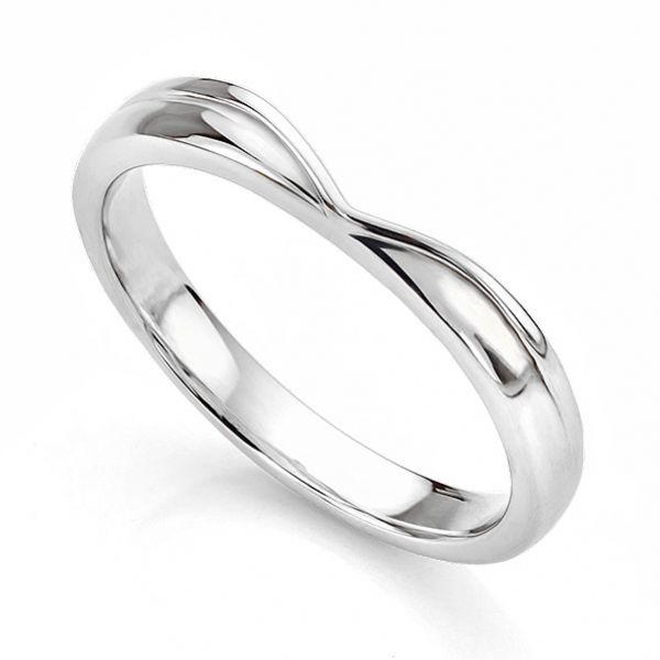 V Shaped Straight Wishbone Shaped Wedding Ring