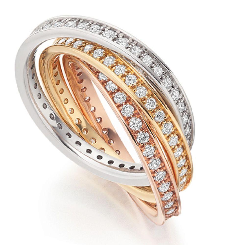 1.5ct Diamond Set Russian Wedding Ring Set