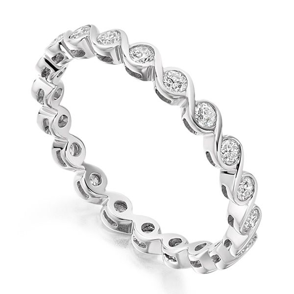 0.50cts Elegant 2.4mm Rub-Over Full Eternity Ring Main Image