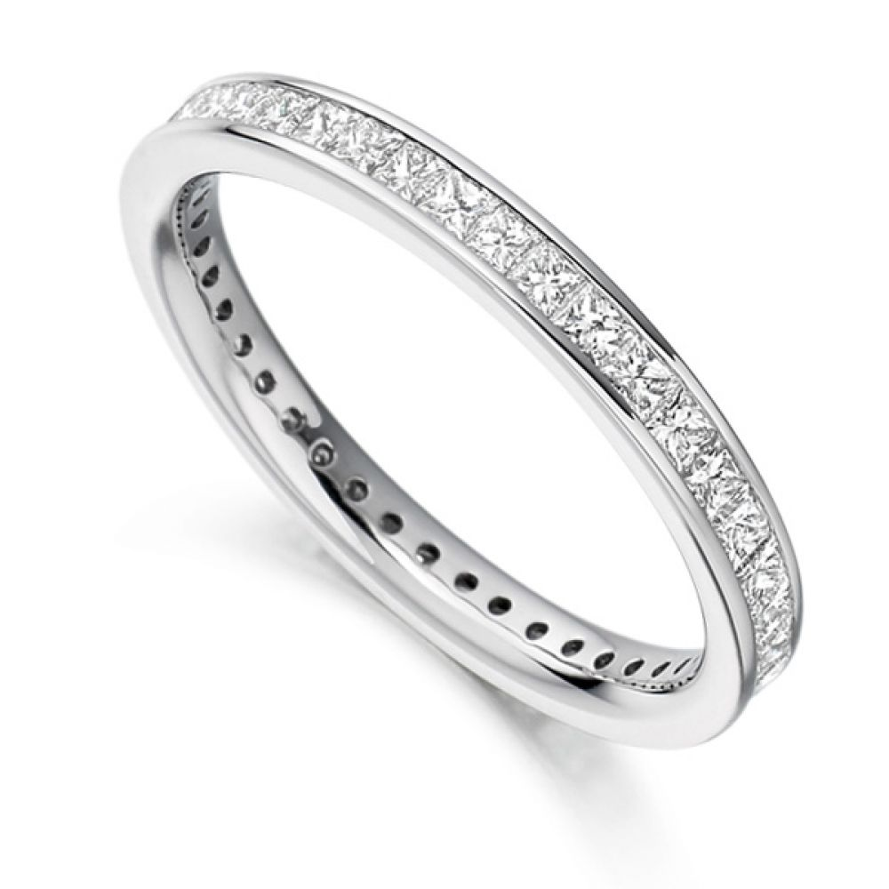 1 Carat Channel Set Princess Diamond Full Eternity Ring