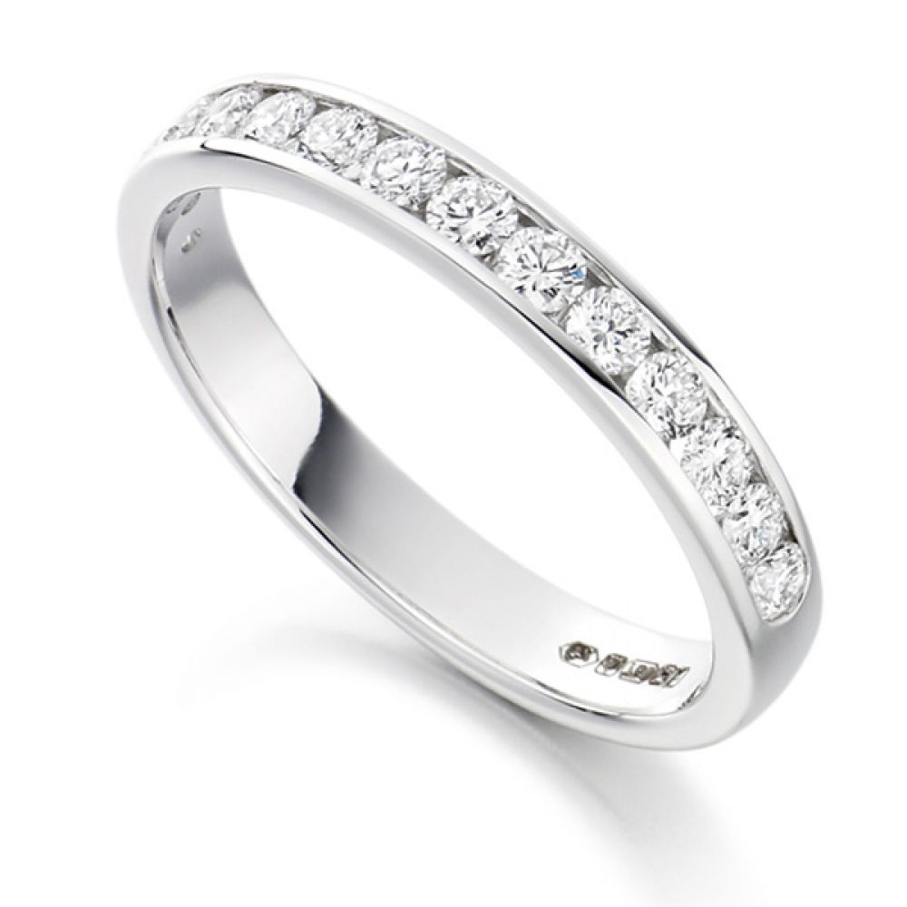 0.50cts Half Channel Set Diamond Eternity ring