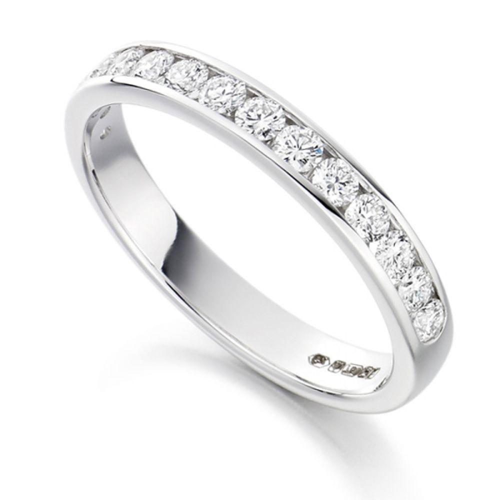 0.50cts Half Channel Set Diamond Eternity ring