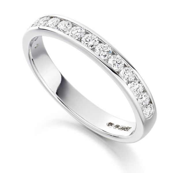 0.50cts Half Channel Set Diamond Eternity ring Main Image
