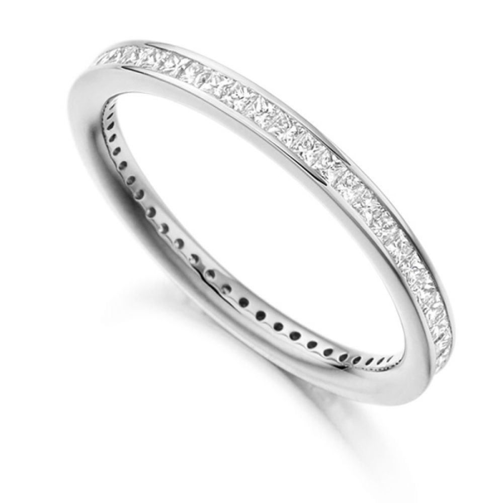 0.62cts Princess Diamond Full Eternity Ring
