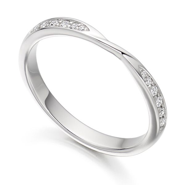 Ribbon Twist Diamond Wedding Ring Main Image