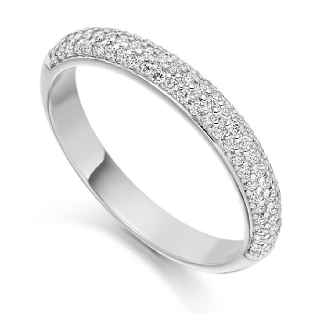 0.40cts Pavé Set Diamond Half Eternity Ring