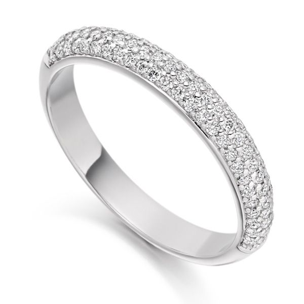 0.40cts Pavé Set Diamond Half Eternity Ring Main Image
