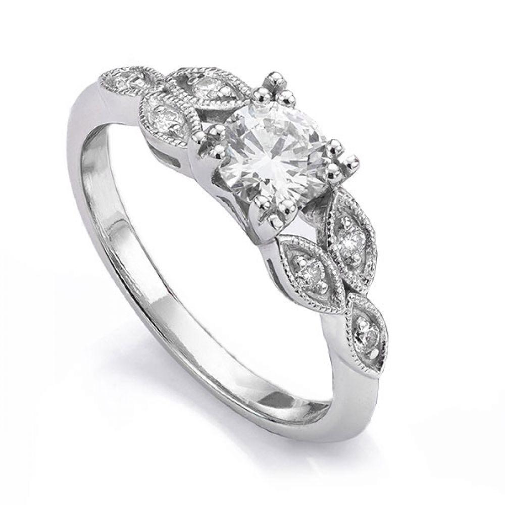 Fern Vintage 7 Stone Diamond Engagement Ring