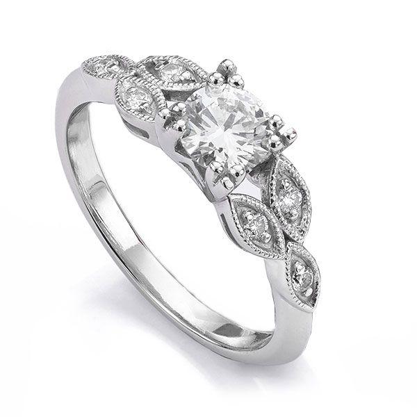 Fern Vintage 7 Stone Diamond Engagement Ring Main Image
