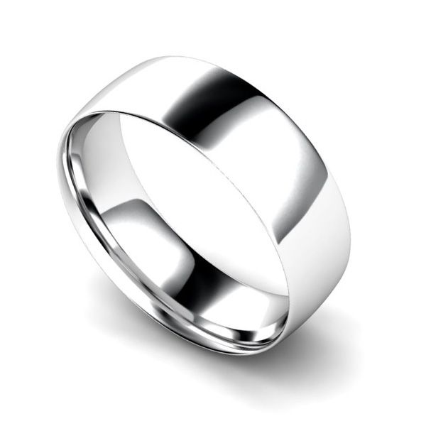 Light Weight Court Profile Wedding Ring Main Image