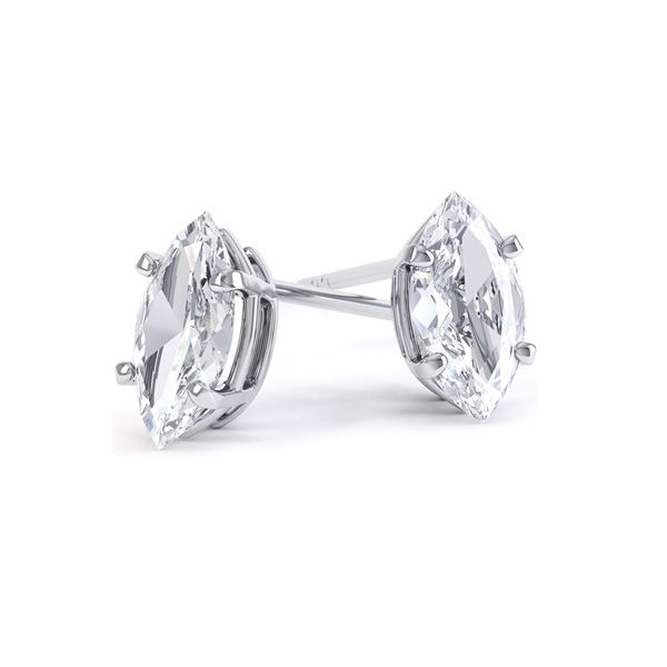 4 Claw Marquise Diamond Earrings Main Image