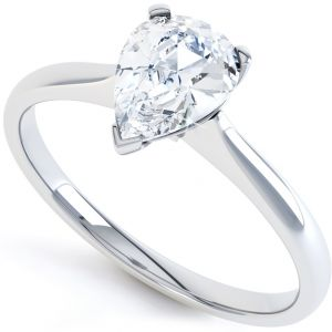 3 Claw Pear Shape Diamond Solitaire Ring Main Image