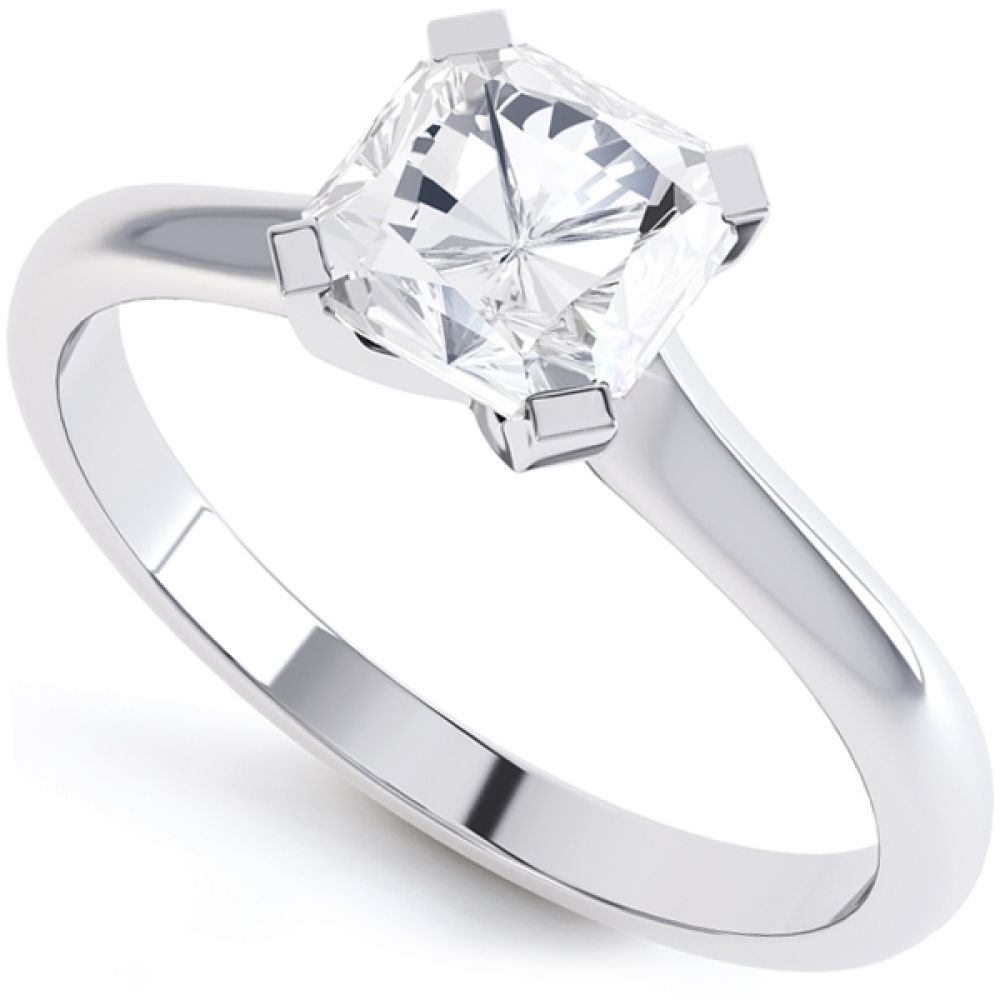 4 Claw Radiant Cut Diamond Solitaire Ring