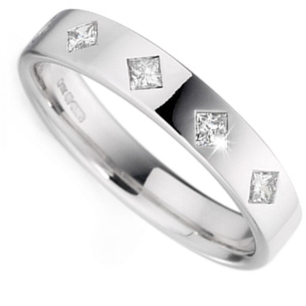 0.25cts Four Stone Diamond Wedding Ring