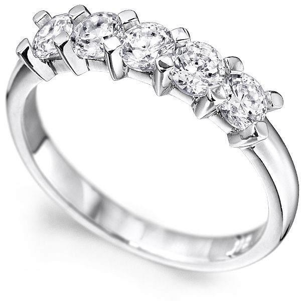 0.30cts 5-Stone Diamond Ring With Square Claw Setting Main Image