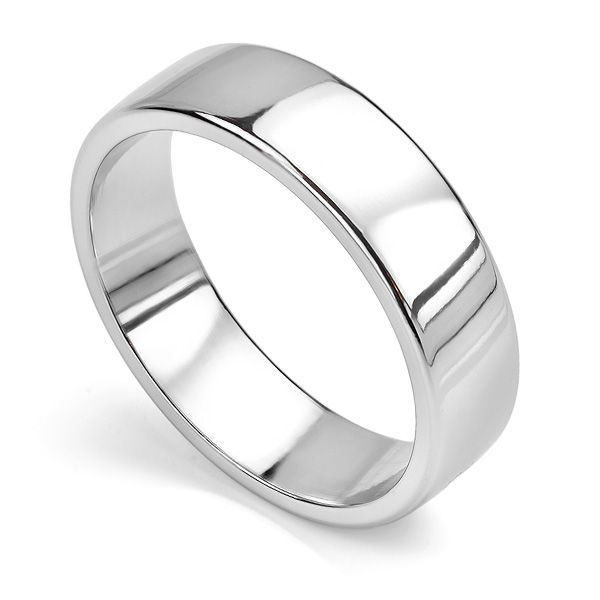 Slight Court Wedding Ring - Polished Edge Main Image