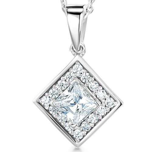 Fancy Shape Diamond Pendants