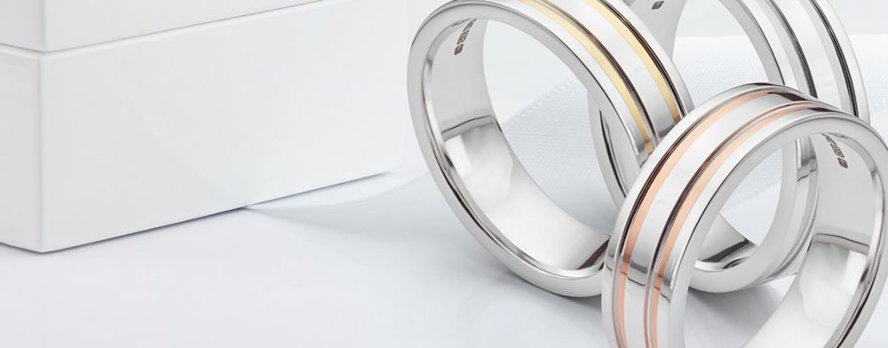 Two Colour Gold Wedding Rings