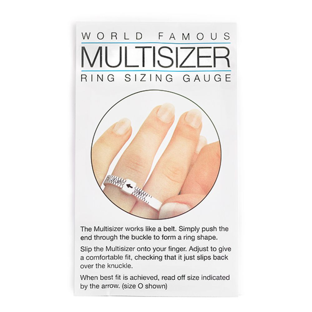 Multisizer UK ring sizer in packet