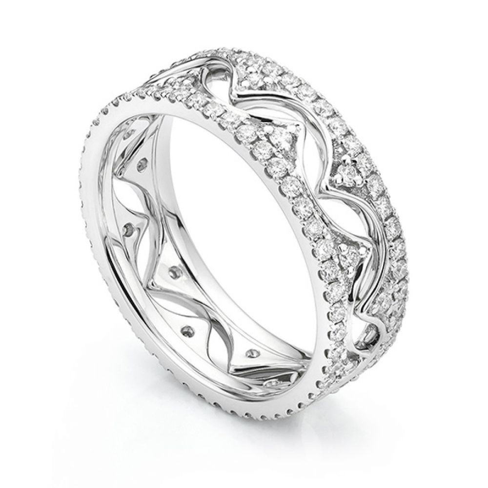 Diana Fusion Diamond Ring Set Worn Inwards