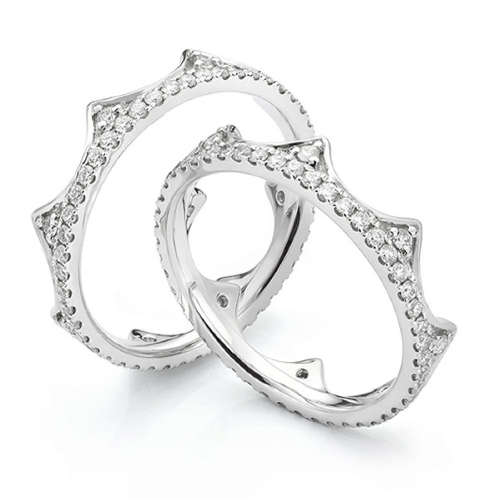 Diana Fusion Diamond Ring Pair Shown Apart