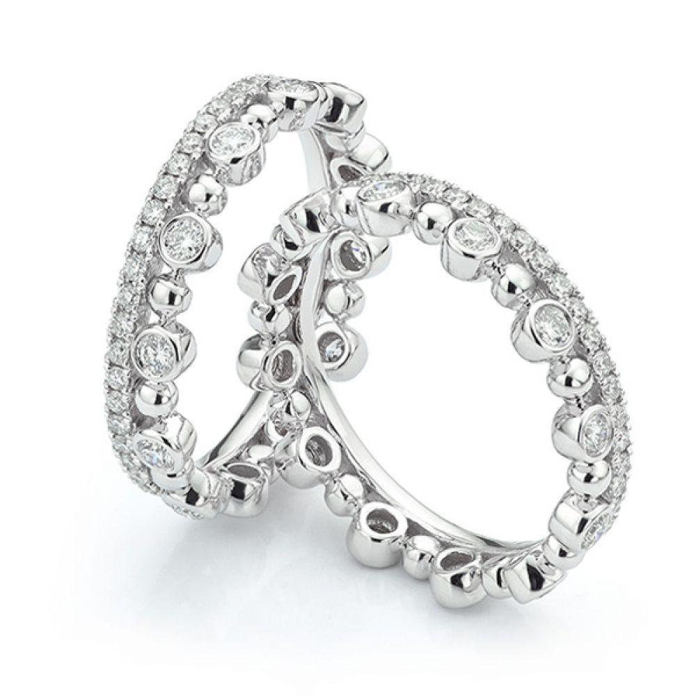 Fusion Diamond Stacking Rings Anastasia Pair