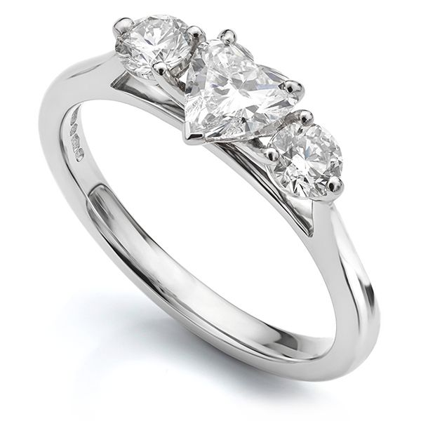 Heart Shaped Diamond Trilogy Ring Main Image