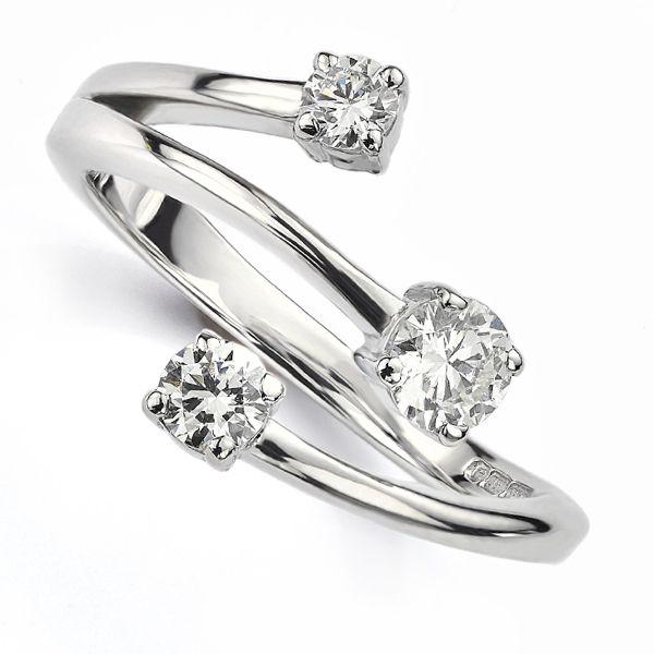 Bespoke 3 Stone Diamond Ring Main Image