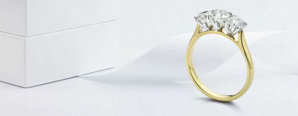Bespoke Trilogy Rings - Custom Made 3 Stone Ring Designs