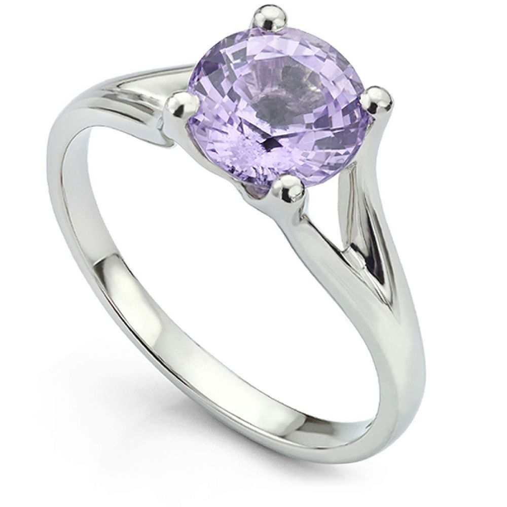 Bespoke Platinum Purple Spinel Ring
