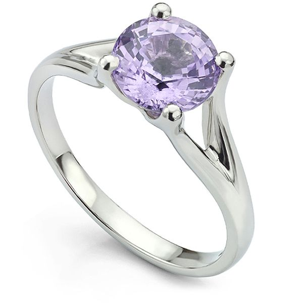 Bespoke Platinum Purple Spinel Ring Main Image