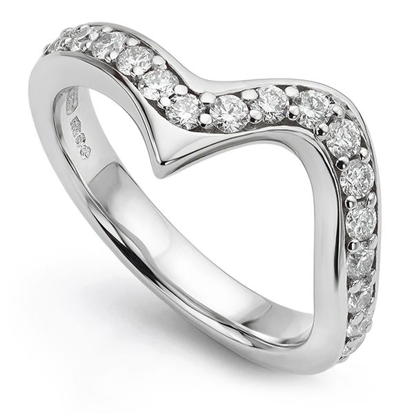 Marquise Shaped Diamond Wedding Ring Main Image
