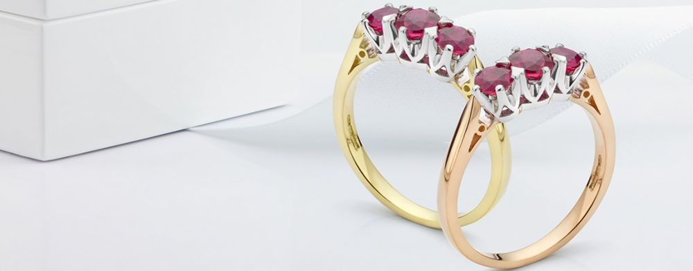 Bespoke Ruby ring designs hand-crafted to order