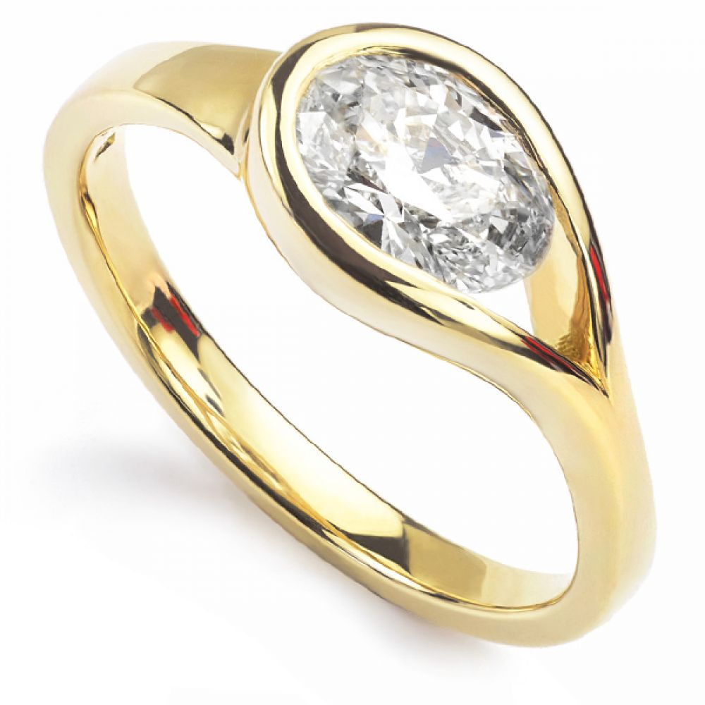 Bespoke Fairtrade Gold Engagement Ring with Oval Diamond.