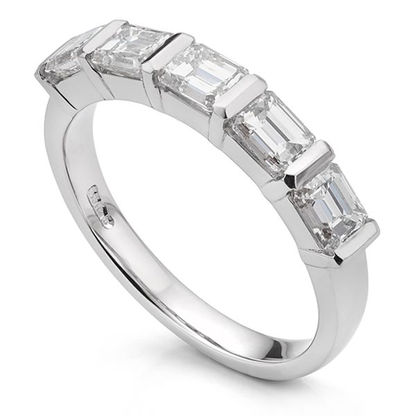 Bespoke 5 Stone Emerald Cut Ring Main Image