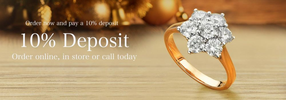 Pay a 10% deposit for jewellery today
