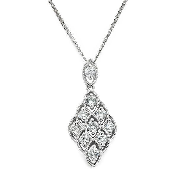 Lace Vintage Diamond Pendant Main Image