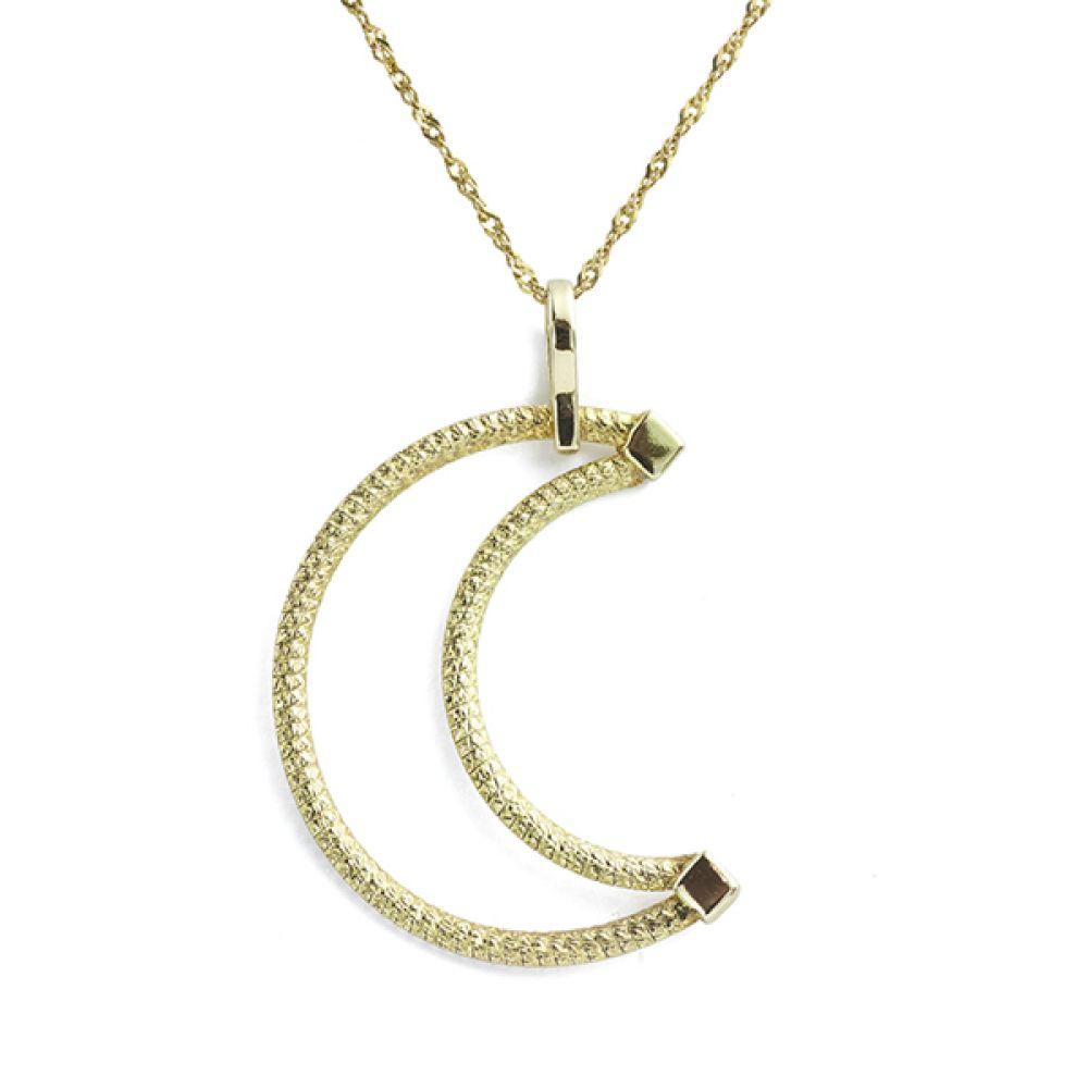 Cherished Gold Moon Pendant