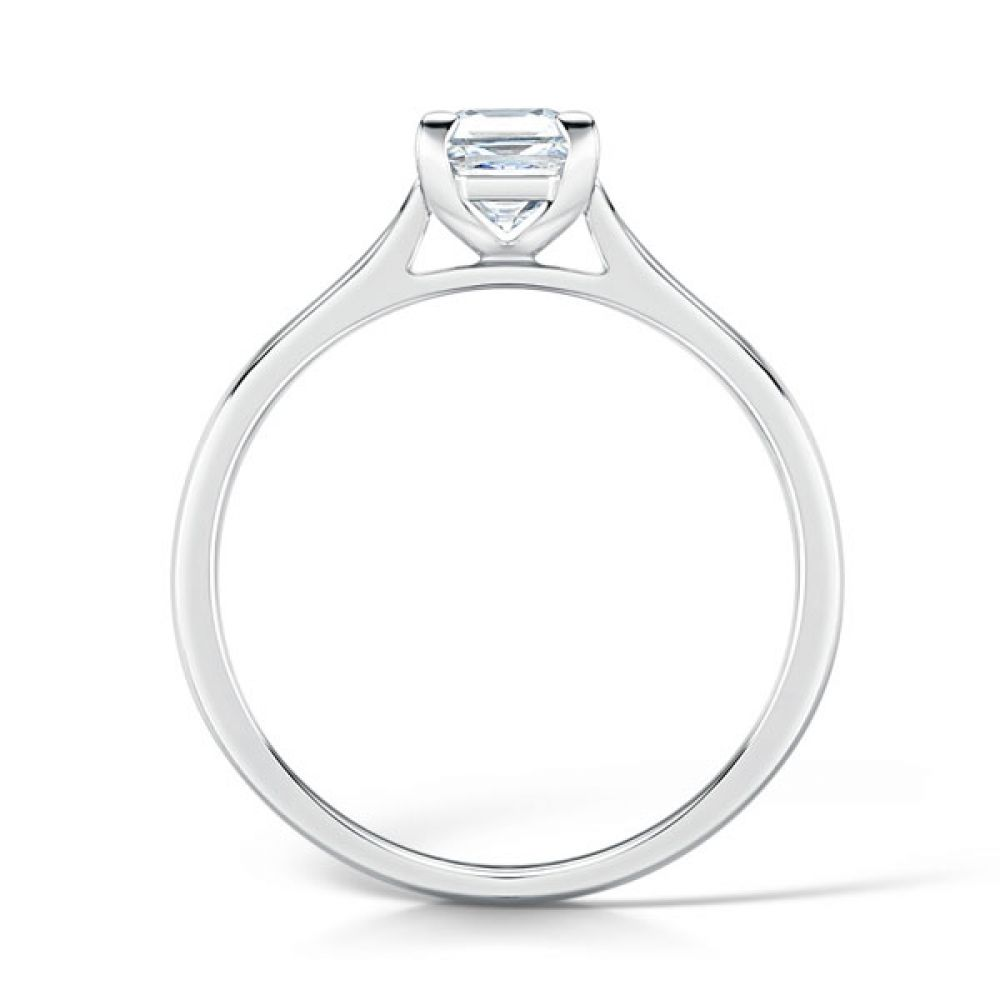 Low Set Solitaire Engagement Ring Side View