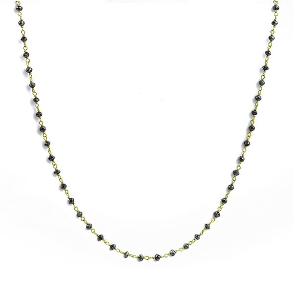Rough Black Diamond Necklace Main Image