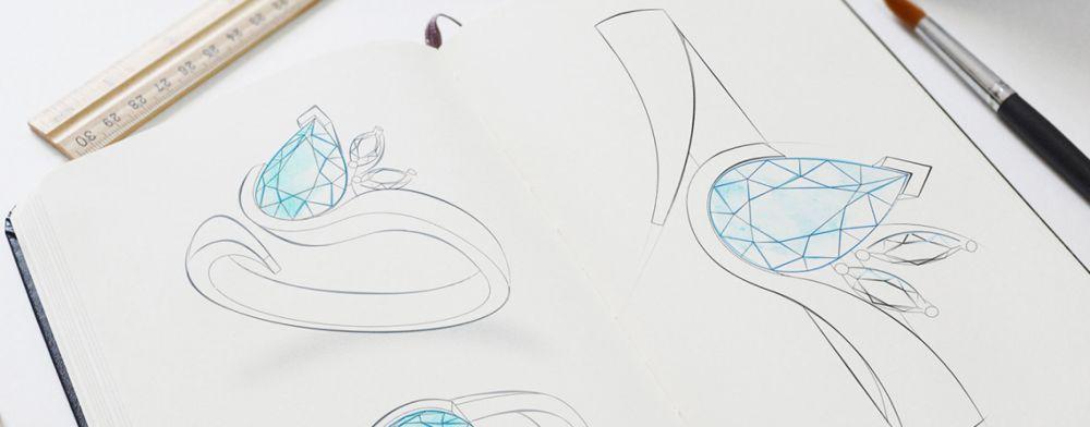 Green Sapphire and Diamond Rings by Bespoke Jewellery Design