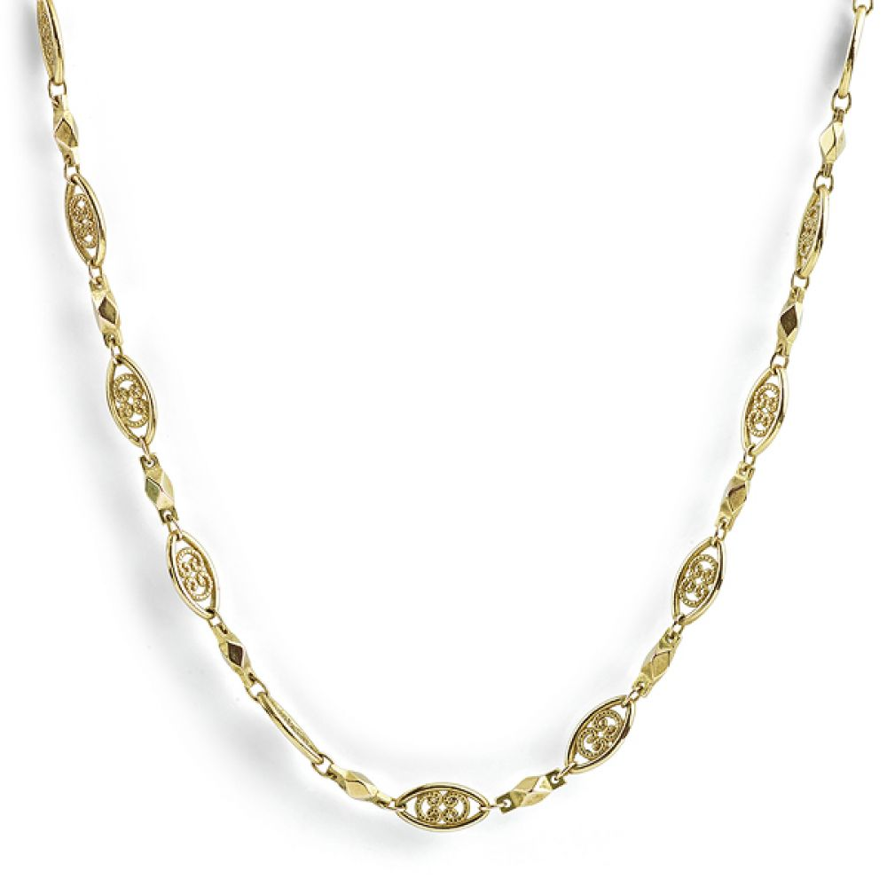 24 Carat Yellow Gold Ornate Chain