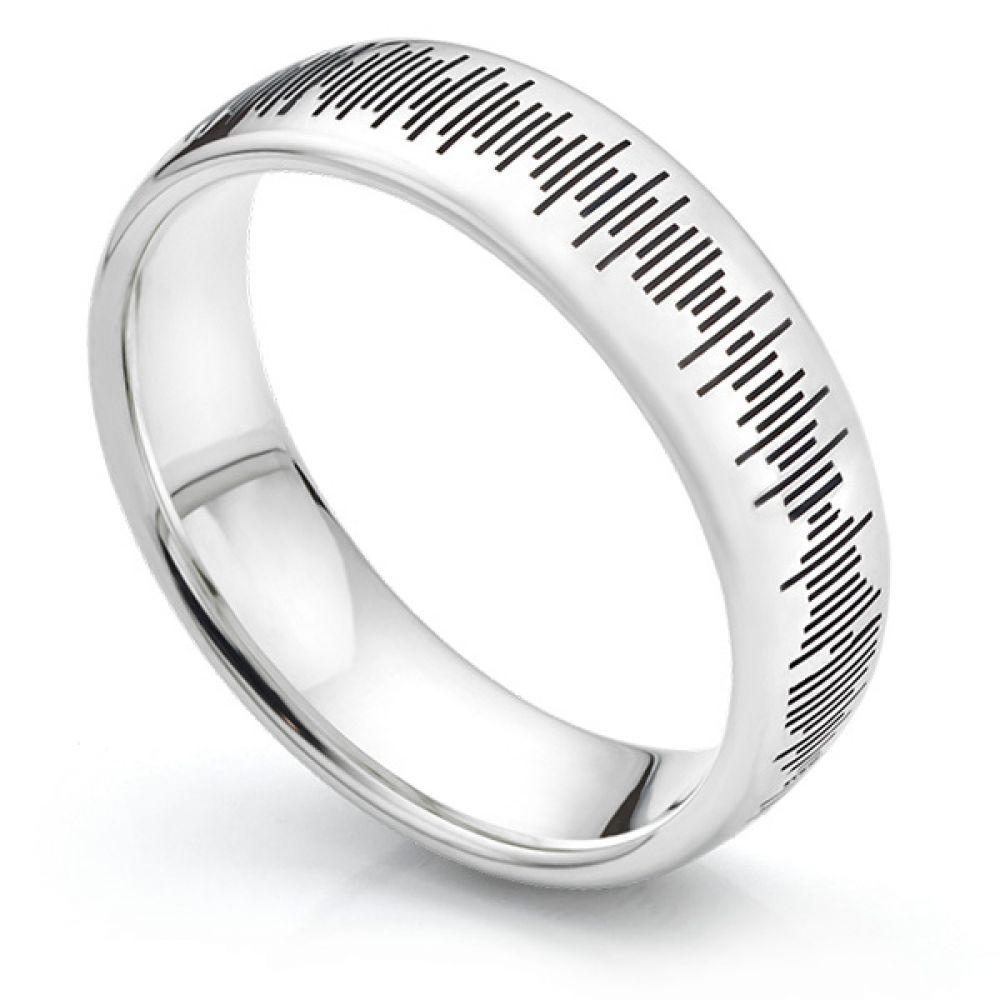 Sound Pattern Wedding Ring