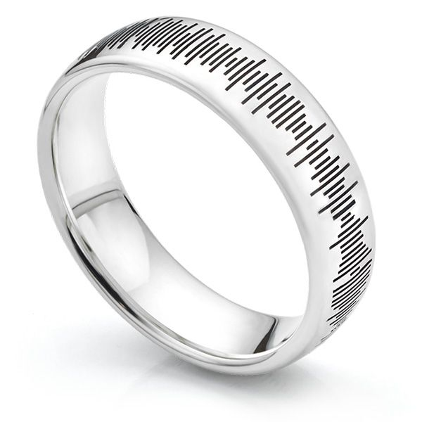Sound Pattern Wedding Ring  Main Image