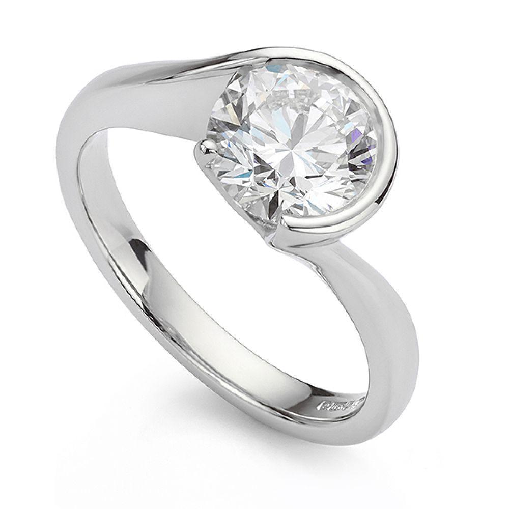 Bespoke lab grown diamond engagement ring