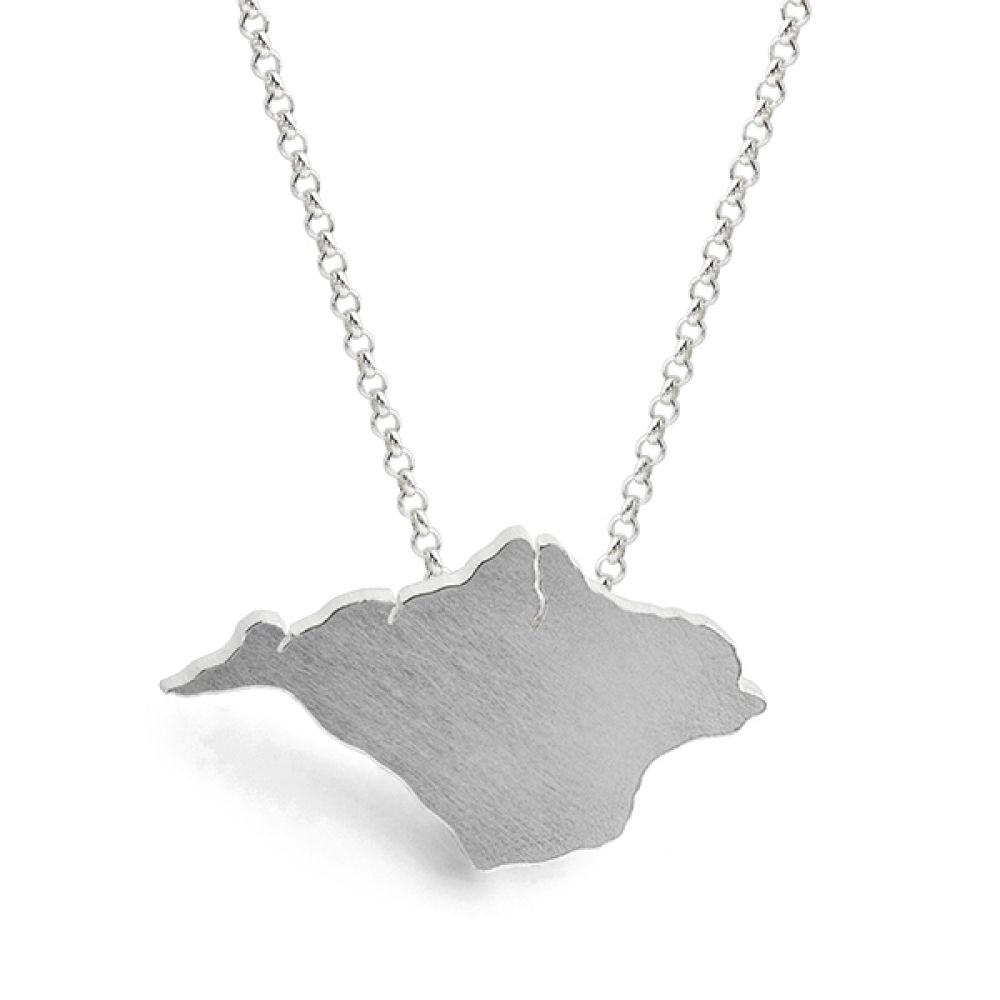 Isle of Wight Shaped Necklace