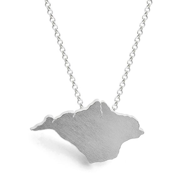 Isle of Wight Shaped Necklace Main Image