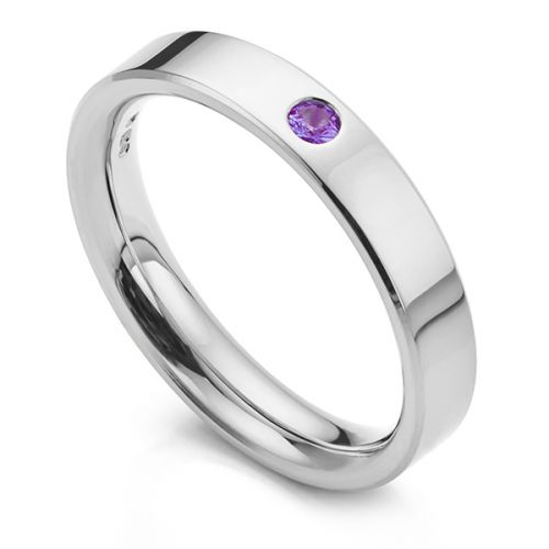 Birthstone Wedding Rings - Coloured Stone Wedding Rings